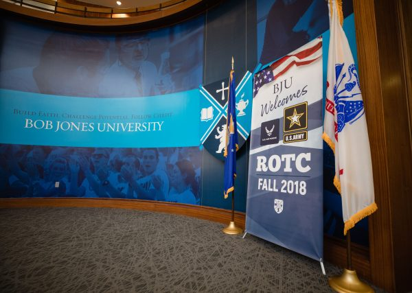 BJU welcomes ROTC Fall 2018, Greenville, SC, April 5, 2018. (Hal Cook)