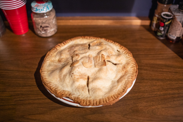 Pie with BJU on it for International Pi Day