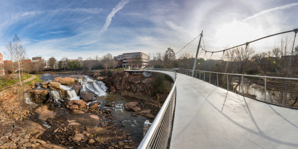 Photo of Liberty Bridge and Falls Park on the Reedy