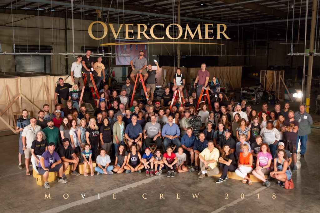 Cast and crew of Overcomer. Photo used with permission.