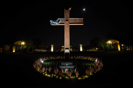Replica of the World Center Cross (Photo by Chad Ratje)